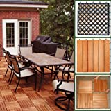 6 Slat Eucalyptus Interlocking Deck Tile