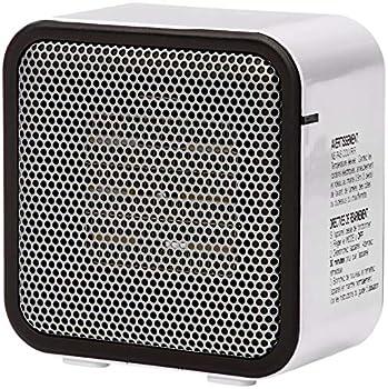Amazon Basics 500-Watt Ceramic Small Space Personal Mini Heater - White