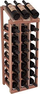 Wine Racks America Redwood 3 Column 8 Row Display Top Kit. Unstained