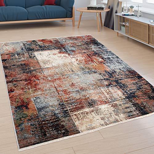 Paco Home Teppich, Moderner Kurzflor-Teppich Für Wohnzimmer, Industrial-Look, In Bunt, Grösse:160x230 cm