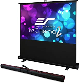Elite Screens ezCinema 2, Manual Floor Pull Up with Scissor Backed Projector Screen, 70-inch 16:9, Portable Home Theater O...