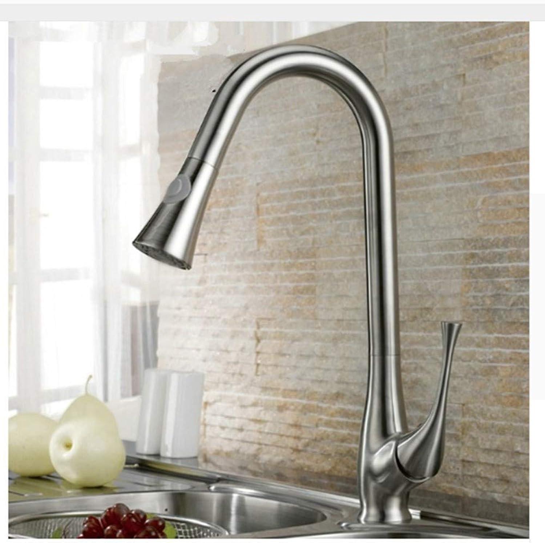 KUNHAN Küchenarmatur Küchenarmatur Becken Nickel Gebürstet Wasserhahn Wasserhahn