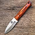 Hobby Hut HH-320, 420C Steel Custom Handmade Fixed Blade Hunting Knife with Sheath Bushcraft Knife Full Tang Designed for Camping and Survival