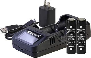 KEEPPOWER 純正 L2 LCD リチウムマンガンバッテリー 1A USB高速充電器 (IMR 3500mAH 2本+L2 充電器セット)
