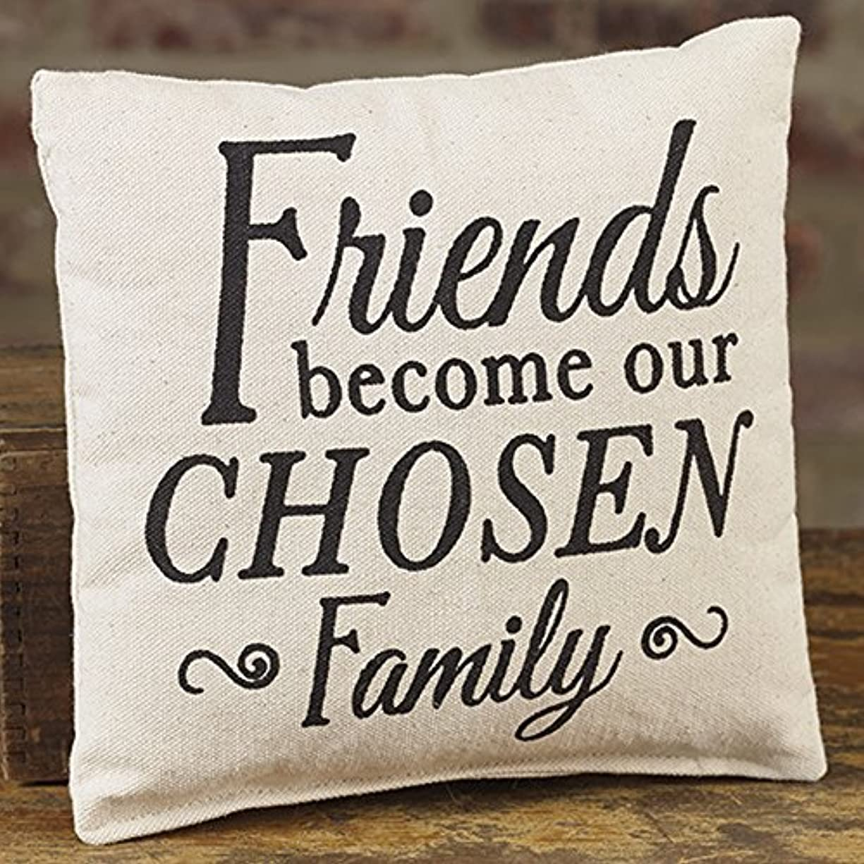 大聖堂円周乞食Friends Chosen Family 8 x 8 Canvas Decorative Throw Pillow [並行輸入品]
