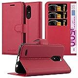Cadorabo Coque pour LG K4 2017 en Rouge Cerise - Housse Protection avec Fermoire Magnétique, Stand...