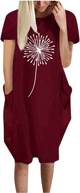 supreme Qonii Midi Dresses for Elegant Women Casual O-Neck T Shirt Summer Print