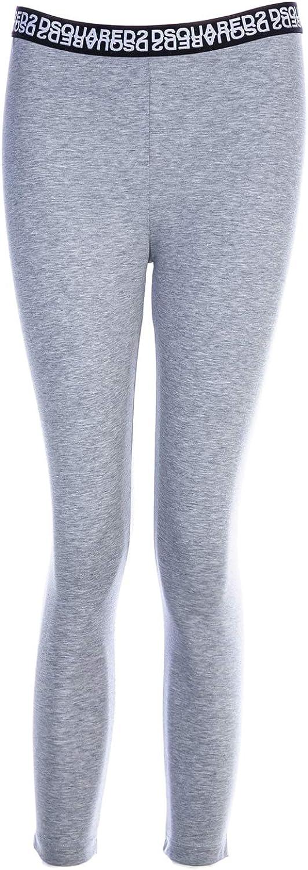 DSQUARED2 Mirrored Logo Ladies 3/4 Leggings in Grey