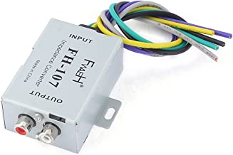 uxcell Auto Car Speaker to 2 RCA Line High Low Level Amplifier Converter