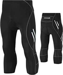 Legendfit Men's Cycling Tights 4D Padded Capri Bike Pants Hidden Pocket UPF 50+