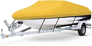 7 oz Solution Dyed Polyester Yellow, Styled to FIT Boat Cover for BAYLINER 195 Classic RUNABOUT 2004-2005