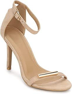 TRUFFLE COLLECTION Women's 1788-53 Beige Suede Fashion Sandals