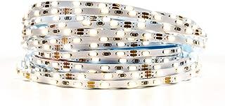 BTF-LIGHTING Warm White Light Ultra Bright Flexible 3014 LED Strip Extremely Narrow 3.0mm PCB SMD3014 90LED/m DC12V 16.4ft 5m 450LED 45W IP30 LED Tape Light