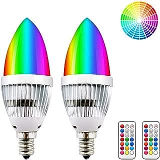 RGB+Warm W... JandCase E12 Candelabra Color Changing Light Bulb Remote Control