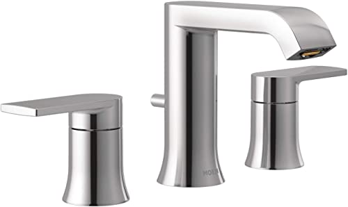 popular Moen online T6708 Genta LX Two Handle Widespread Modern Bathroom Facuet wholesale Valve Required, Chrome outlet sale