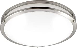 Luxrite LED Flush Mount Ceiling Light, 18 Inch, Dimmable, 5000K Bright White, 2160lm, 30W Ceiling Light Fixture, Energy Star & ETL - Perfect for Kitchen, Bathroom, Entryway, and Living Room