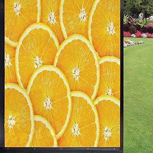 Película de ventana naranja decoración de cocina, para cuarto de baño Kids Room Corredera puerta de caléndula 60 x 90 cm