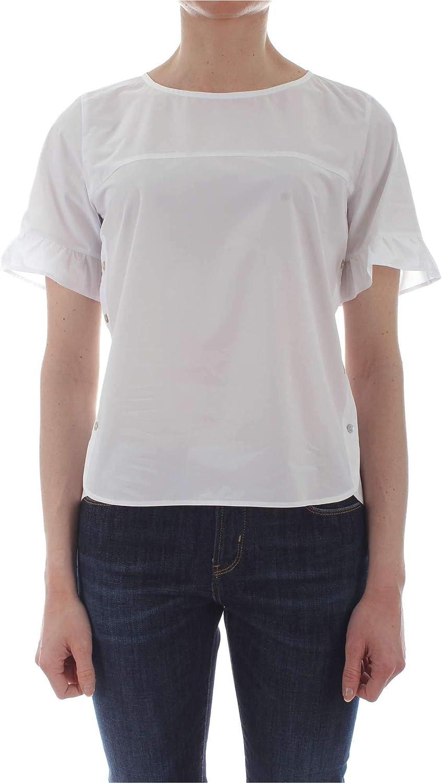 Ibluees Women's 71111191WHITE White Cotton Blouse