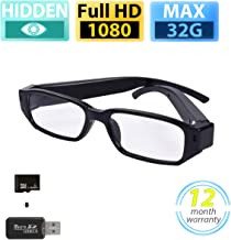 Hidden Camera Eyeglasses Video Recording Wearable Camera 1080P HD - 32GB SD Card Included