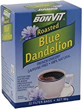 Bonvit Roasted Blue Dandelion French Chicory Tea 32 Filter Bags, 32 count