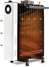 MYRCLMY Radiador Lleno de Aceite de 2200 W, 13 Aletas, Calentador eléctrico portátil con termostato, 3 configuraciones de Calor, sobrecalentamiento, Toda la casa en 3D se calienta rápidamente