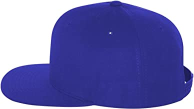 Yupoong Adult 6-Panel Structured Flat Visor ClassicáSnapback-White