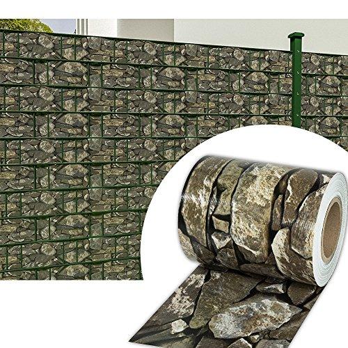 wolketon 35M x 19cm PVC Sichtschutzstreifen Doppelstabmattenzaun Balkon Garten Zaun 450 g/㎡