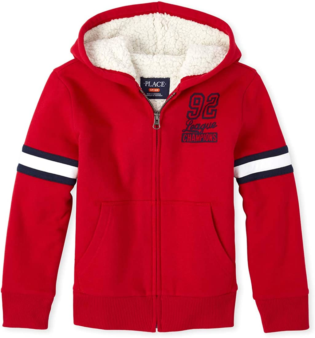 The Children's Place Boys' Big Sherpa Hoodie
