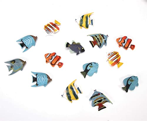 Bulk Buy  Darice Crafts for Kids Plastic Tropical Fish 2 inches 14 pieces 1029-04 by Darice Bulk Buy