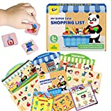 Panda Juniors Memory Matching Game, Shopping List Travel Board Game for Kids Age 3-5-8, Find Goods Quickly and Match List. Role-Playing Educational Games for Families & Kids.Education Board Game