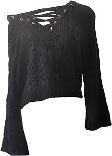 GGTFA Las Mujeres En V Profundo Vendaje Puente Jersey Suéter De Bodycon De Prendas De Punto, Tops