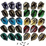 IgnatGames Plumas y Accesorios para Dardos - Juegos de Plumas de Diferentes Formas y Protectores, Kit de Accesorios para Dardos