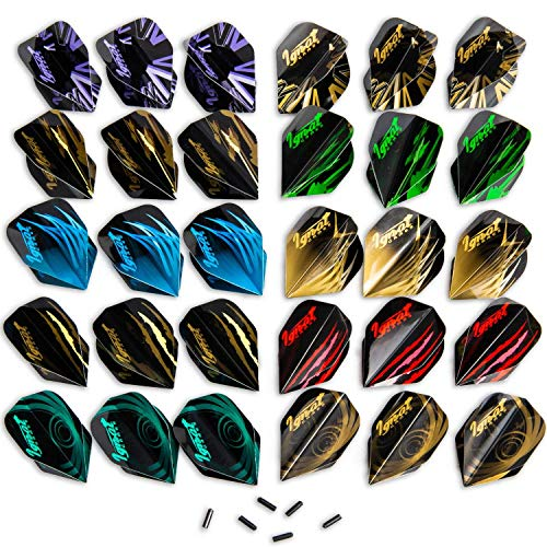 IgnatGames Dart Flights and Accessories - Sets of Different Shape Darts Flights and Flights Protectors, Darts Accessories Kit (Standard Shape)