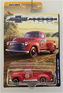 1947 '47 CHEVY STEPSIDE PICKUP TRUCK AD 3100 100 YEARS SERIES MATCHBOX 2017