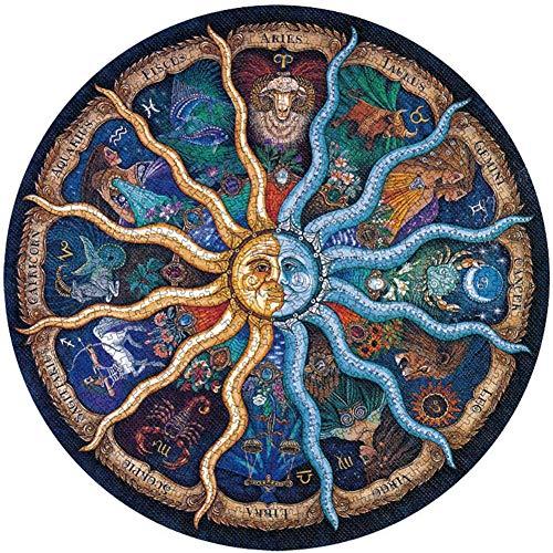 Ambolio Puzzle 500 Piezas,12 Constellations Puzzle,Redondo Puzzle,Juegos de Puzzle de 500 Piezas. (12 Constelaciones)