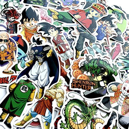 ZNMSB 50 Pegatinas de Grafiti de Dragon Ball, folleto, Caja de Carro para Coche y Motocicleta, Pegatinas de Grafiti de Dibujos Animados