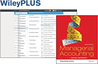 Managerial Accounting 6e Binder Ready Version + WileyPLUS Registration Card