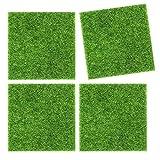 6 Piezas de Césped Artificial Mat, Micro Paisaje Simulación de Césped, para Terraza de Jardín, Balcón, Mesa, Piso