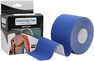 la fisioterapia gli stiramenti muscolari dimensioni: 5 m x 5 cm Westeng confezione da 1 pezzo cerotto elastico adatto per attivit/à sportiva supporto per infortuni la cinesiologia