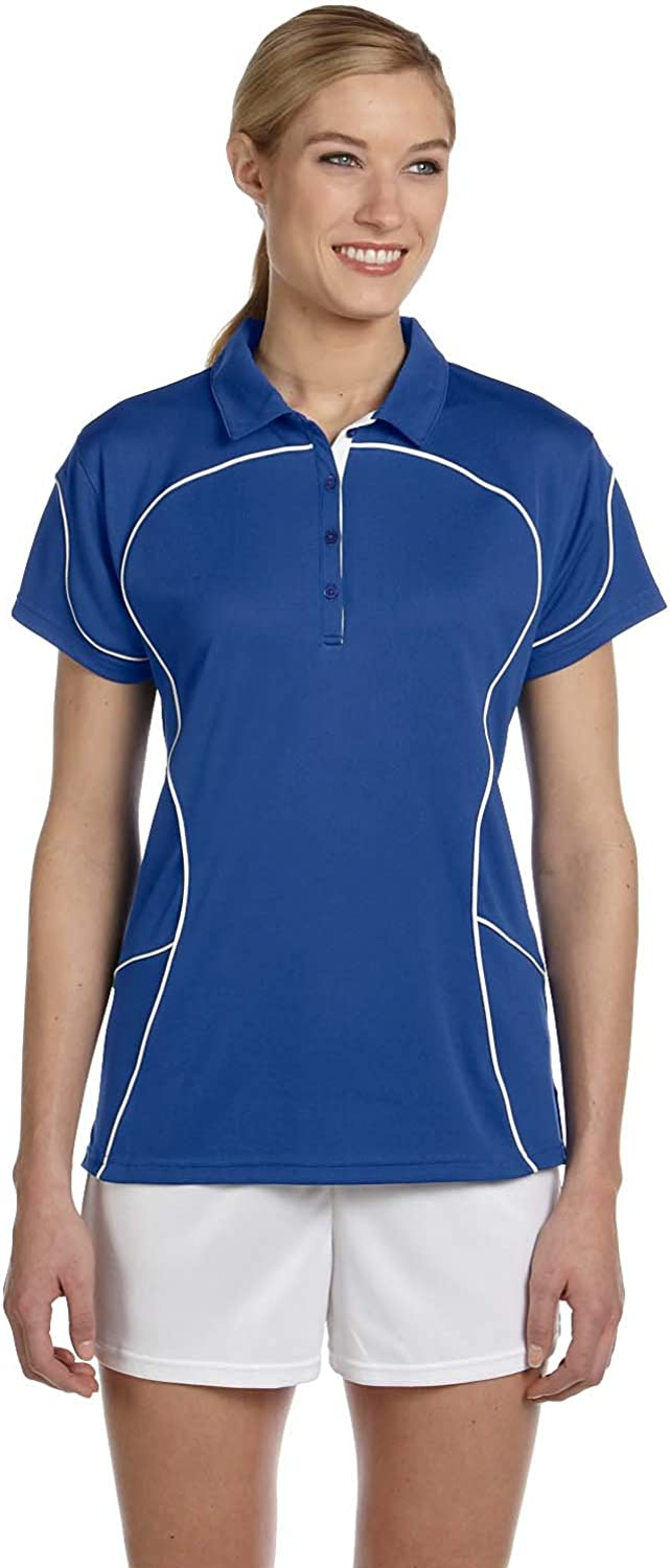 Russell Athletic Womens Team Prestige Polo (434CFX) -ROYAL/WHIT -2XL