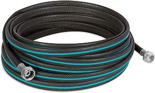 """Gilmour 869501-1001 AquaArmor Lightweight Hose 1/2"""" x 50', 50 Foot, Black/Aqua"""