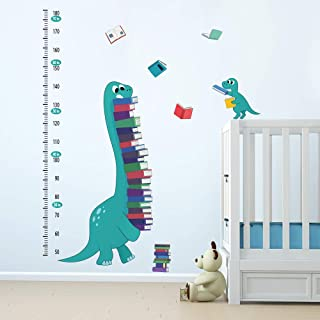 ufengke Dinosaurs Height Charts Wall Stickers Books Growth Wall Decals Art Decor for Kids Bedroom Baby Nursery