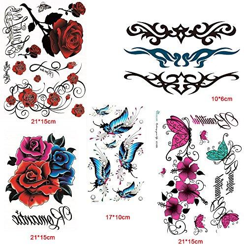 Xiaofeng214 Waterproof Temporary Tattoo, Scar Stickers Creative Stickers Men and Women, Adolescent Girls Body Art