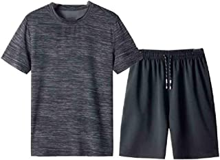 Losait Mens Fashion Casual Leisure Stripes Half Sleeve Loose Fit Shirts