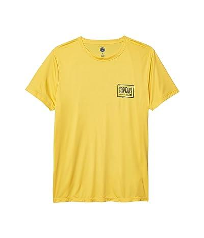 Rip Curl Native Short Sleeve Rashguard (Yellow) Men