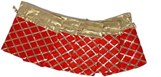 "Red Silk Drawstring Bags Set of 5 Pouch Wedding/Christmas/Secret Santa Favor Gift Bag Potli Size :- Height :-7"" Width :- 5"""