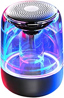 $81 » ZXQZ Speakers Portable Bluetooth Speakers, Adjustable 7-Color Light 360° Stereo Sound Crystal Glass Music Speakers with 12...
