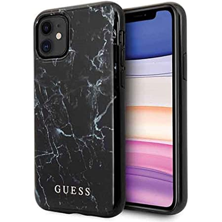 Guess Marble Hülle Iphone 11 Schwarz Elektronik
