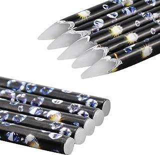 5 Stks Rhinestone Picker voor Nail Gems, Zachte Wax Potlood Wax Pen voor Diamanten voor nagels, Nail Potlood Dotting Pen D...