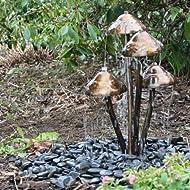 Mushroom Garden Water Feature White